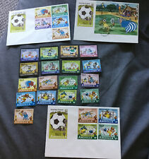 Dominica/Anguilla 1982 Walt Disney World Cup Soccer Spain Stamp Sets