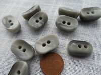 6-12 Knöpfe 18mm grau grey Knebelknopf Verschluß Mantelknopf Stabknopf Poncho