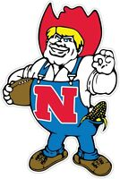 "Nebraska Cornhuskers Mascot NCAA Color Vinyl Decal - You Choose Size 2""-42"""