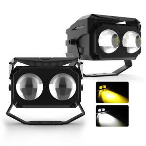 2x 3in 100W Spot LED Light Work Lamp Bar Driving Fog Offroad SUV Car Boat Truck