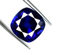 6-8 Ct/10mm Blue Sapphire Gemstone Natural Cushion Cut VS Clarity AGSL Certified
