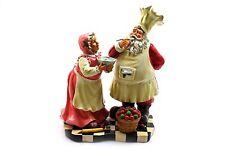 """Santa Claus Mrs Claus Cooking Chefs Kitchen Figurine 12.5"""""""