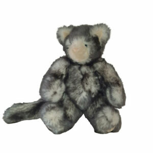 """Friend for Life Born Abroad Vermont Teddy Bear Gray Cat Kitten Plush Toy 13"""""""