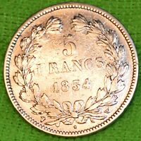 CPX-556 FRANCE 5 FRS ARGENT 1834 W LOUIS PHILIPPE I CV 400€ A 1100€ SUPERBE
