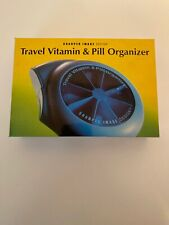 SHARPER IMAGE Travel Vitamin & Pill Organizer Container w/LCD Alarm/Clock/Timer