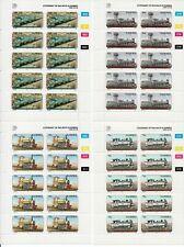 Namibia Scott #774-77  4 Locomotives Miniature Sheets of 10 1995 MNH OG