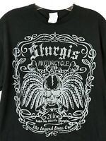 Large 2016 Sturgis Motorcycle Rally Black T-Shirt Front/Back Graphic
