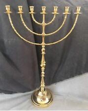 Jerusalem Menorah 33 Inch Height Brass Copper 7 Branches Menorah Jewish Israel