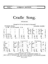 Brahms Cradle Song SATB Learn to Play Classical Choral SHEET MUSIC BOOK