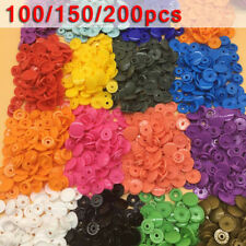 KAM 100 150 200 Sets T5 Plastic Snaps Snap Starter Buttons Poppers Fasteners Kit