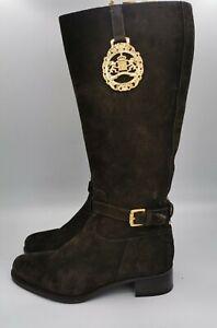 Unisa ladies high boots leather dark brown size eu38/UK5 003