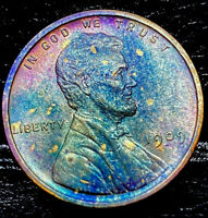 """1909 P Lincoln Wheat Penny Cent- """"Beautiful Color"""" SUPERB GEM HIGH GRADE #01"""