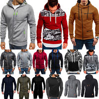 Men Winter Hoodie Hooded Sweatshirt Pullover Jacket Coat Outwear Jumper Sweater