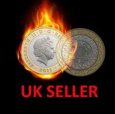COIN THROUGH BAG £2 SPLIT COIN TWO POUND SPLIT COIN MAGIC TRICK CLOSE UP MAGIC
