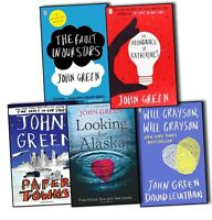 John Green 5 Books Collection Pack Set The Fault in our Stars Looking for Alaska