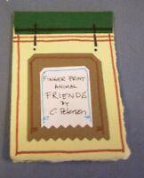 Miniature ARTIST BOOK Animal Friends = Cathy Peterson = Original Abstract ART