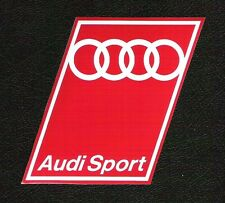Audi Sport Sticker, Vintage Sports Car Racing Decal, Le Mans, Rally