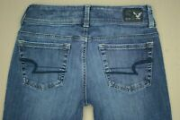 American Eagle 360 Super Stretch Kick Boot Jeans Women's Size 0 Medium Wash