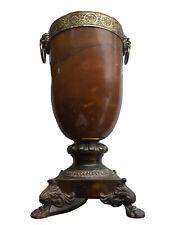 Vintage Alabaster And Brass Urn Lamp