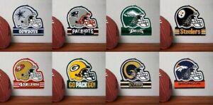 NFL Embossed Metal Helmet Sign 100% Heavy Duty Steel