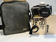 Nikon F3/T HP Titan 35mm SLR Camera w Lens 35-70MM F/3.5 Suede Camera Bag & Hood
