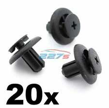 20x 7mm Black Plastic Interior Trim Clip for Toyota Avensis, Yaris, Corolla etc
