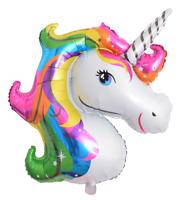 "Unicorn Balloon Large Foil Helium Rainbow Pink Girls Birthday Decoration 42"""