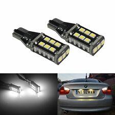 2x Ampoules LED T15 W16W 15 SMD Blanc Anti Erreur Feu de Stop Recul Arrière DRL