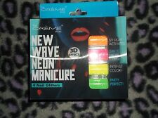 The Creme Shop NEW WAVE NEON MANICURE 3D 4pk nail glitters new in package