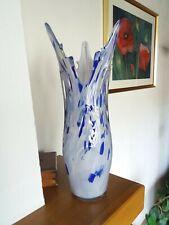 Superbe et ancien vase des verreries de Scailmont Manage  des années 60