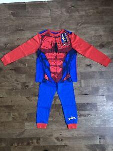 Very Boys Spiderman Novelty Long Sleeve Pyjamas - Age 6-7 Years rrp £15