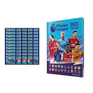 2020-21 PANINI PREMIER LEAGUE HARD COVER ALBUM PLUS 52 PACKS (260 STICKERS)