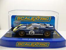 Scalextric C3097 FORD GT40 Mk11, 1968 andetti/BIANCHI No.6, come nuovo inutilizzato