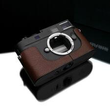New GARIZ Genuine Black Label Leica M9 Half Case Brown For LEICA M9 M8 & M momo
