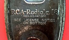 Vintage 1920's RCA Radiola 18 Face Plate Set Receiver Tube Radio