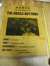 THE BRASS BUTTONS BAND  1960,s ROCH. NY   PLATTSBURGH COLLEGE MUSIC POSTER !!!