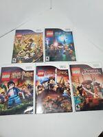 Nintendo Wii Lego Video Game Lot of 5 - Star Wars, Indiana Jones, Harry Potter