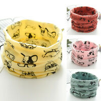 Autumn Winter Boy Girls Baby Cartoon Dog Warm Scarf Cotton Neck Scarves Colorful