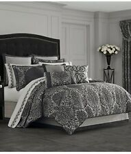 J Queen New York Raffaella Regal Graphite Euro Pillow Sham Bedding
