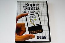 SUPER TENNIS - SEGA MASTER SYSTEM - THE SEGA CARD - COMPLETE