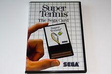 SUPER TENNIS - SEGA MASTER SYSTEM - THE SEGA CARD - COMPLETE