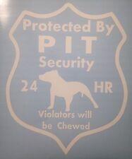 Pitbull dog Security Decal, Pit Bull Dog, Rescue Dog, Guard Dog