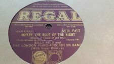 BILLY REID AND LONDON PIANO ACCORDIAN BAND WHERE THE BLUE OF THE NIG REGAL MR567
