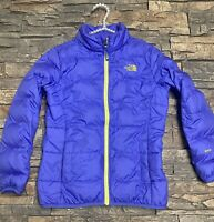The North Face Girls 550 Down Puffer Jacket Winter Coat Jacket Purple Med 10/12