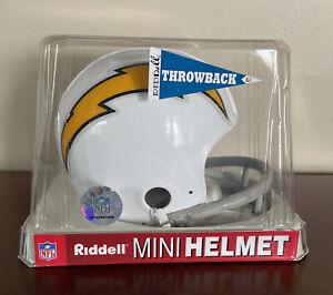 SAN DIEGO CHARGERS RIDDELL Mini Football Helmet Vintage Retro 2 Bar White NIB