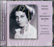 GINETTE NEVEU-BEETHOVEN: VIOLIN CONCERTO IN D MAJOR / BRAHMS:...-JAPAN CD H68