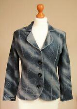 Gerry Weber Size UK 12 38 Soft Wool Felted Knitted Jacket Cardigan Grey Pockets