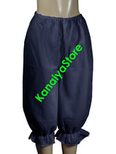 Navy Blue - Women Cotton Bloomers Vintage Style Old Fashioned Sissy Pantaloons