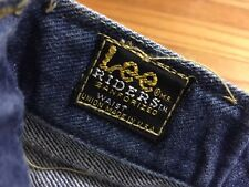 Vintage 60's LEE RIDERS Selvedge Denim Sanforized Leather Label Denim Jean.