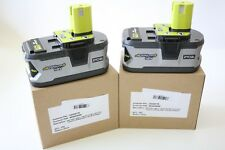 TWO NEW - RYOBI P108 NEW 18v ONE+ 4AH HIGH CAPACITY LITHIUM ION BATTERY